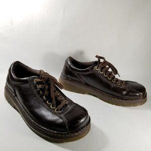 Dr. Martens Brown Leather 'Perry' Lace Up Oxfords